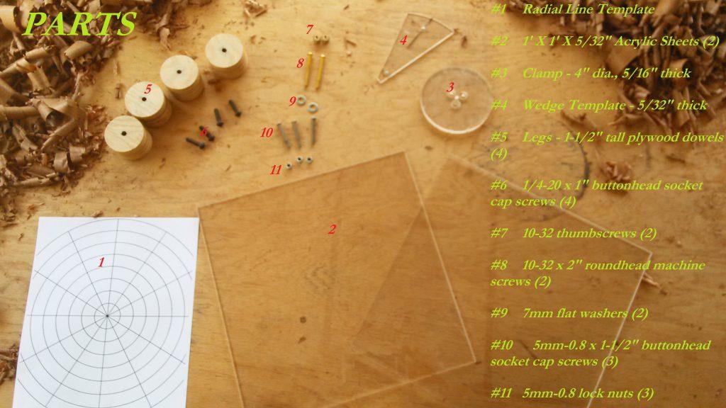 Radial Rosette Maker Parts List (1)